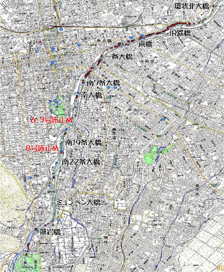 2013年度 豊平川サケ産卵床調査結果