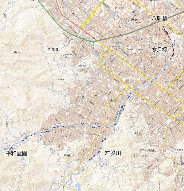2017年度琴似発寒川サケ・サクラマス産卵床GPSデータ_合計