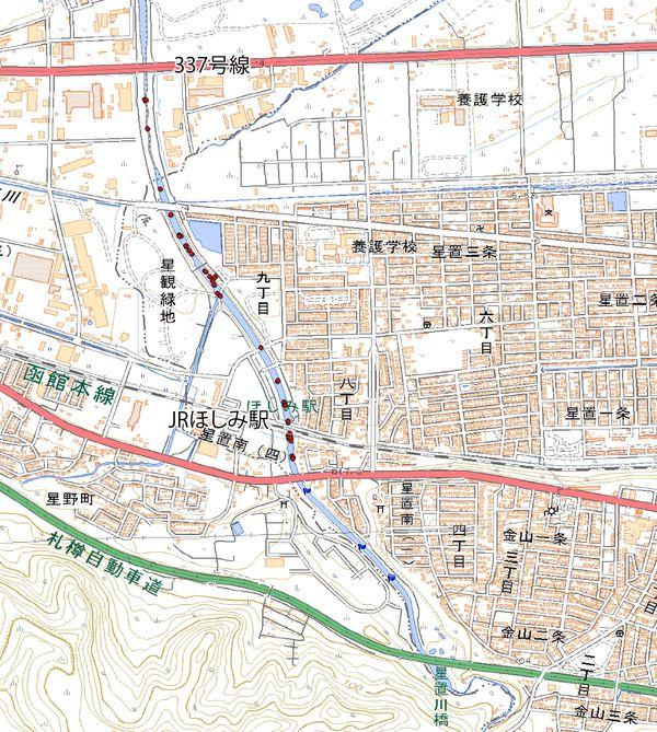 2017年度星置川サケ・サクラマス産卵床GPSデータ_合計